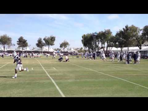 Tony Romo Throws - 2013 Dallas Cowboys Training Camp