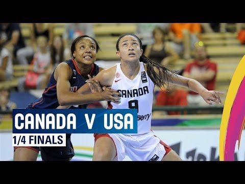Canada v USA - Quarter Finals - 2014 FIBA U17 World Championship for women