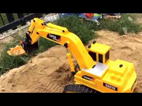 รถตักดินบังคับตักจริง excavator RC