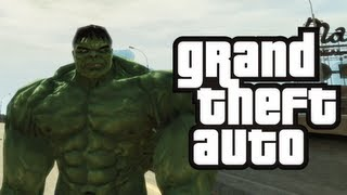 GTA 4: Hulk in GTA! - (Hulk Mod Funny Moments)