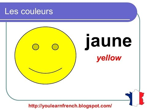 French lesson 2 - Les couleurs (Colors in French)