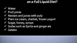 Full Liquid Diets: Foods Allowed And To Be Avoided