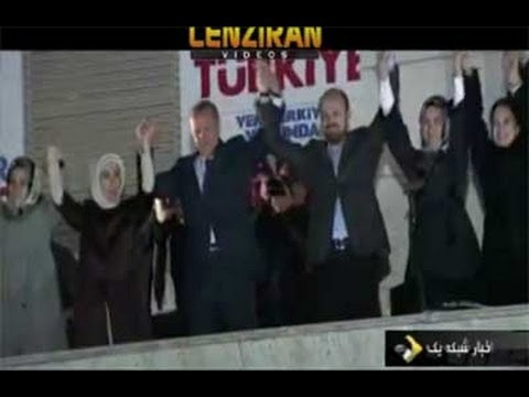 Turkish prime minister Recep Tayyip Erdogan celebrate winning of  local election