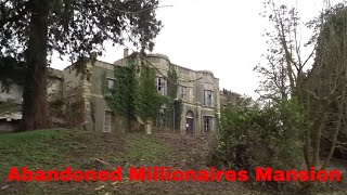 Abandoned Millionaires Mansion With Abandoned Cars And Everything Left Behind