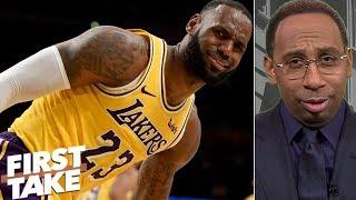 LeBron 'isn't choking at the free throw line' – Stephen A. | First Take