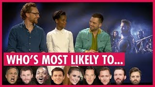 "Tom Hiddleston Leads Avengers Playing ""Who's Most Likely"""