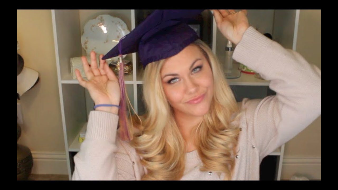 Graduation Hair And Makeup Tutorial - YouTube