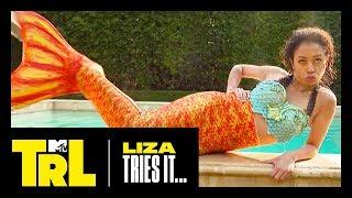 Liza Koshy & Gabbie Hanna Become Mermaids IRL   Liza Tries It   TRL