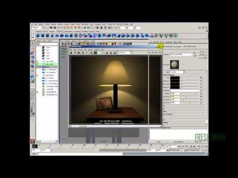 Maya Tutorial:  Table Lamp - Part 4b (Lighting)
