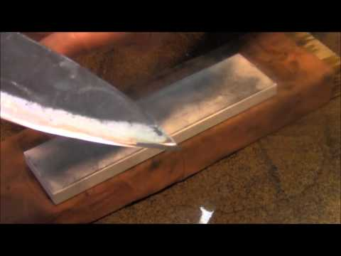 knife sharpening how to sharpen a knife with no edge from scratch youtube. Black Bedroom Furniture Sets. Home Design Ideas