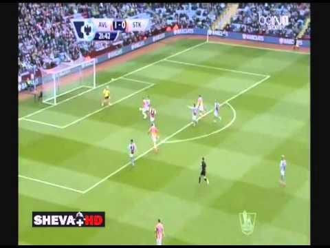 Aston Villa - Stoke City 1-1 Peter Odemwingie Goal 23/3/2014