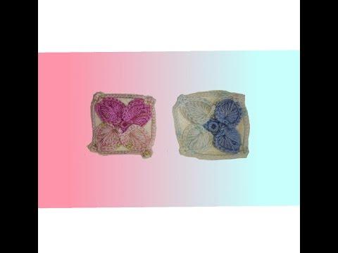 Granny square de corazones en crochet -  cuadro en crochet - paso a paso