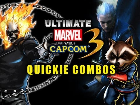 Ghost Rider - Vergil - Rocket Raccoon : UMVC3 Quickie Combos