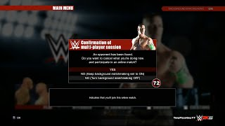 WWE 2K15 Online Background Matchmaking 【PS4 / XBOX ONE