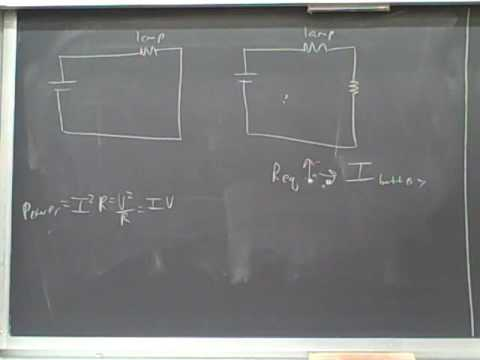 Adding resistors to electric circuits (1) - YouTube