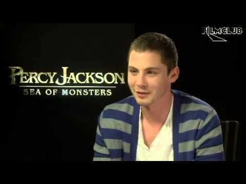 Interviews Logan Lerman For Percy Jackson: Sea of Monsters! - YouTube