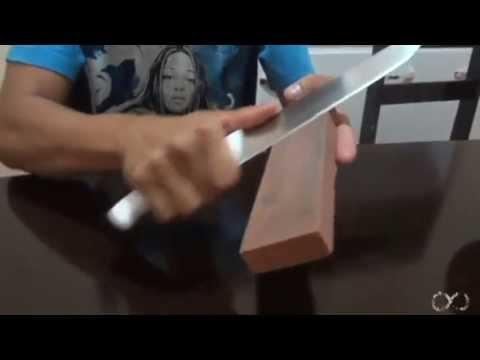 Como afiar uma faca