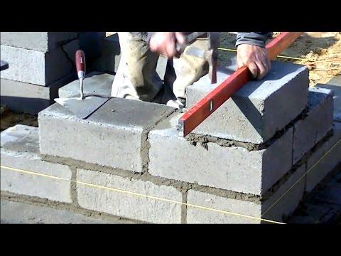 Budowa domu krok po kroku. dzień 6-11 Murowanie ściany