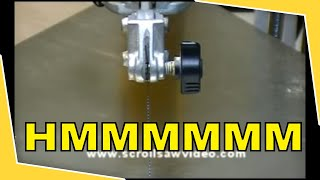 Woodworking Scroll Saw Tutorial Proper.Blade Tensioning