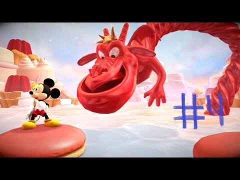 Mickey Castle of Illusion #4 \\\\Biblioteca e Dragão de Doce