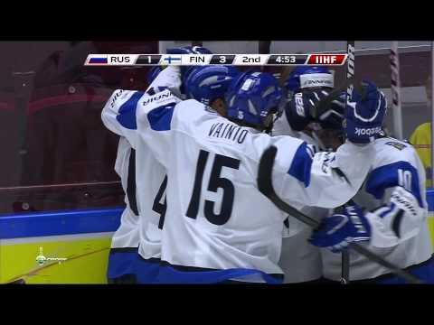 1:3 Goal KULMALA Rasmus (Russia - Finland) World Junior Championship 2014