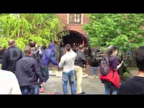 Protesters storm the building of the prosecutor office in Donetsk