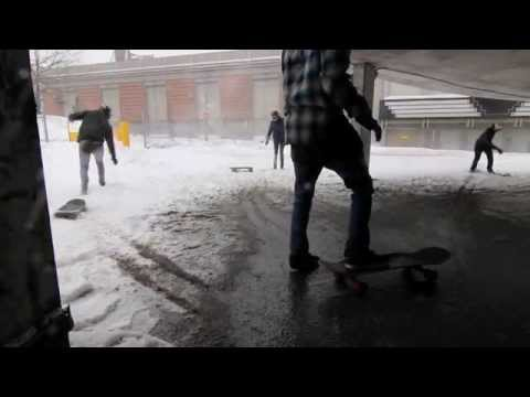 Longboard in a snowstorm : Spiral of doom.