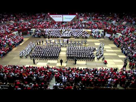 OSUMB Entire Pregame incl Script Ohio at the Skull Session OSU vs Illinois 11 3 2012