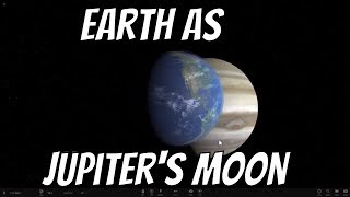 What if Earth was a Moon of Jupiter?