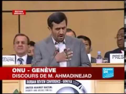 Discours Mahmoud Ahmadinejad à l'ONU, le gouvernement israélien est raciste 240p