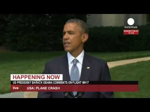 Obama on MH17 crash, fighting in Ukraine (recorded LIVE feed)