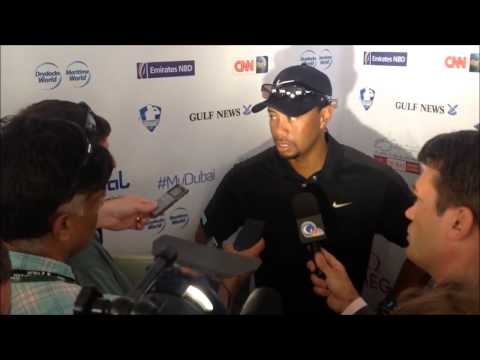 Tiger Woods clip after his 2nd round at the 25th Omega Dubai Desert Classic 2014