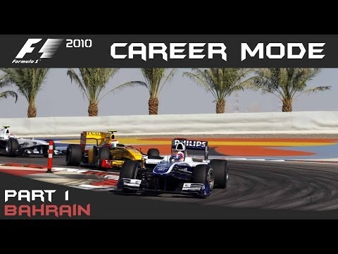F1 2010 Career Mode - Part 1 Bahrain Grand Prix