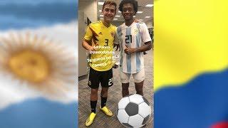 Dybala e Cuadrado si scambiano Nazionale | Juventus #SettimanaSocial 18/09/2018