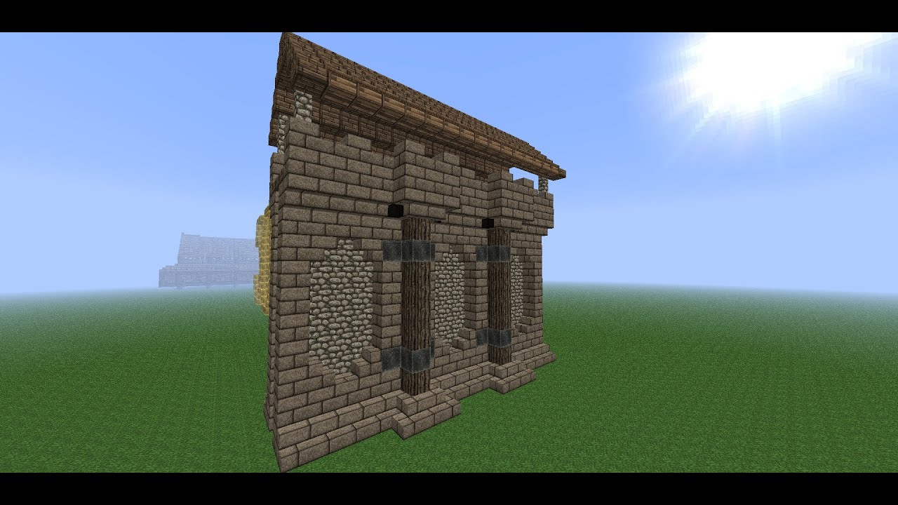 Minecraft Medieval Wall- Tutorial -How to Build a Wall- Part 1 ...