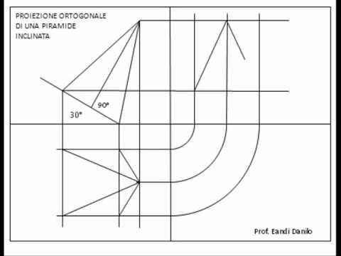 Proiezione ortogonale piramide inclinata