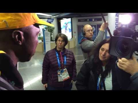 Jamaica Bobsled Team Arrival at Sochi