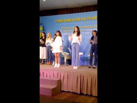 Hoàng Yến Chibi may mắn được nhảy Roly Poly cùng Jiyeon ( T-Ara ) In Vline.tv at Vietnam 031416