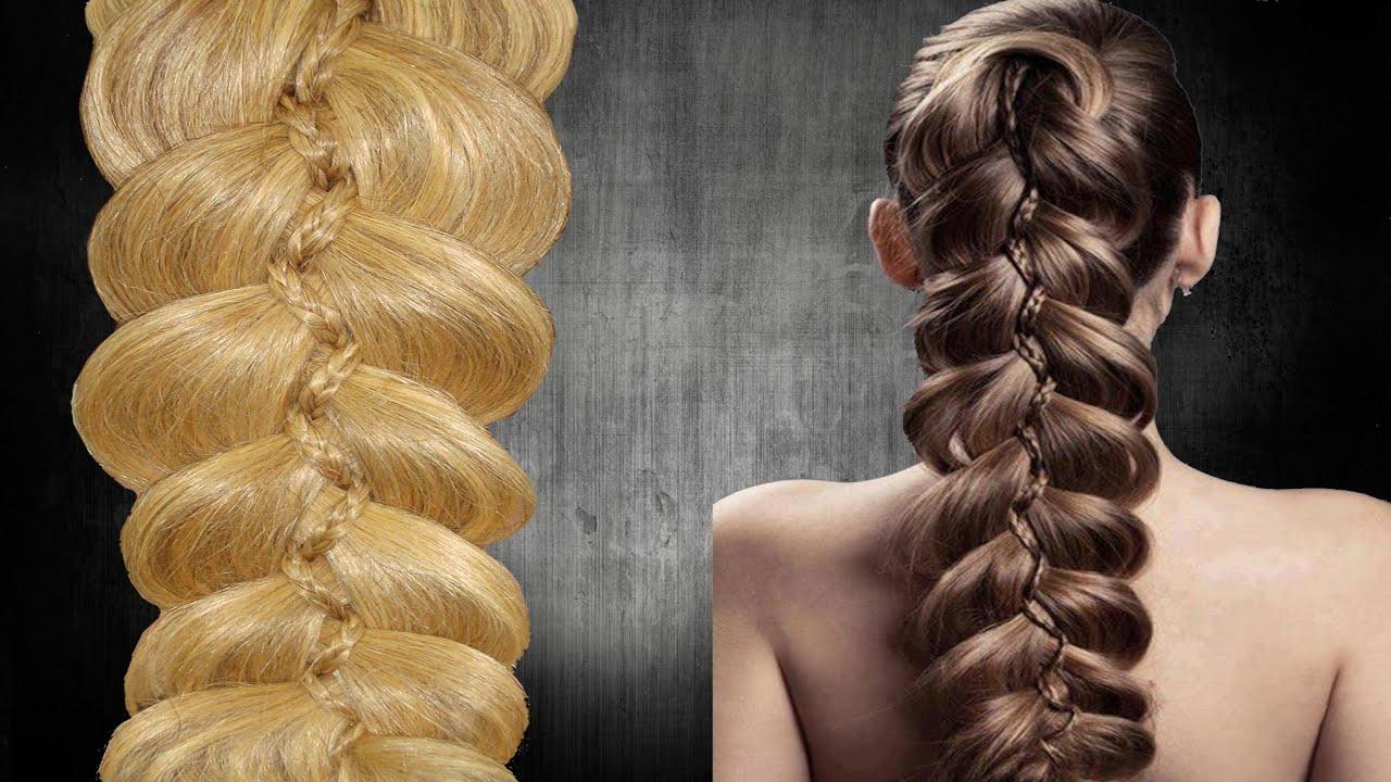 5 strand slide up braid trenza 5 de moda 5 - Peinados de trenzas modernas ...