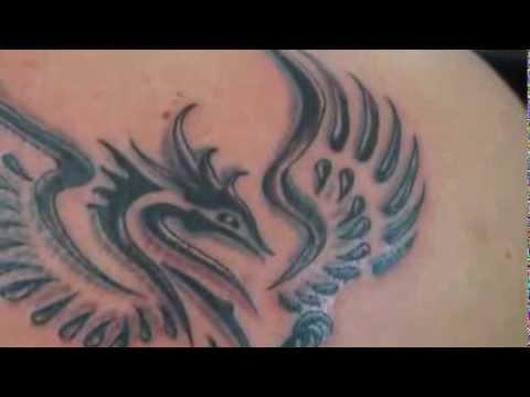 Tattoo fenix tribal sombreado transforma o allan for Fenix tribal tattoo