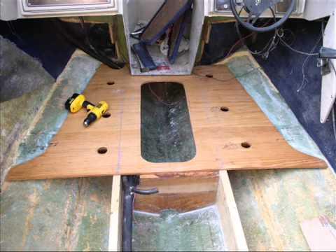 Boat floor replacement youtube for Replacing boat floor