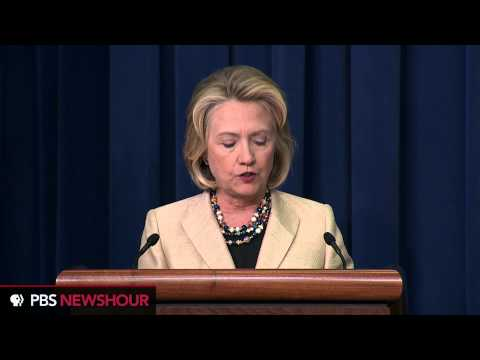 Watch Hillary Clinton speak about Syria's Chemical Weapons and International Wildlife Trafficking