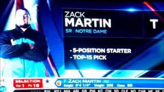 ZACK MARTIN DRAFT DAY 2014 AZ Cardinals Fans Booing The