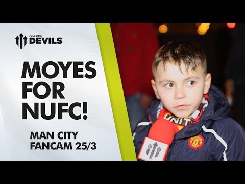 Moyes for NUFC! | Manchester United 0-3 Manchester City | FAN CAM