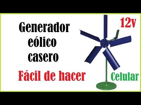 how to Mini generador eólico casero paso a paso manual tutorial diy