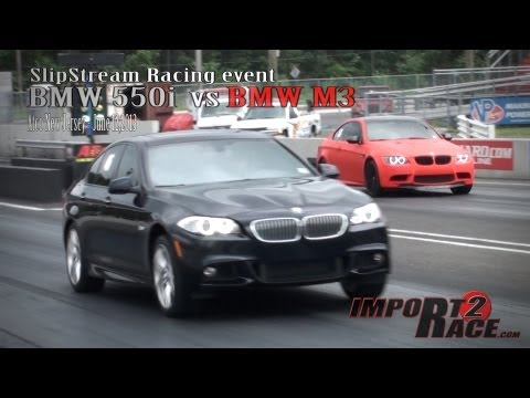 BMW M3 VS BMW F10 550i @ SlipStream Racing event