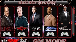 WWE 2K14 GM MODE