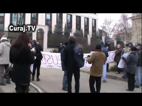 Protest împotriva prezenţei militarilor ruşi în RM