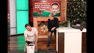 Ryan Reynolds Gets Dirty in 'Ryan Reynolds' Race to Raise Real Fudging Money'