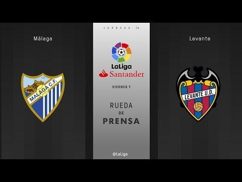 Rueda de prensa Málaga vs Levante